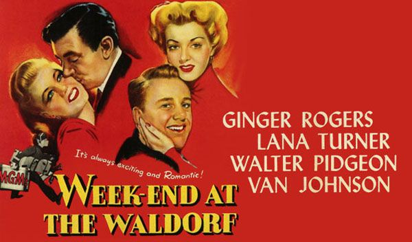 Week-end at the Waldorf poster